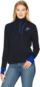 7a75102d4 NHL St. Louis Blues Women's OTS Annabelle 1/4-Zip Pullover Hoodie, Fall  Navy, Large