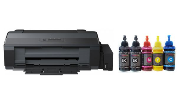 A3 Sublimation Printer,EPSON L 1300 Printer With 5 color X 100 ml premium  Sublimation ink,Ink tank System,