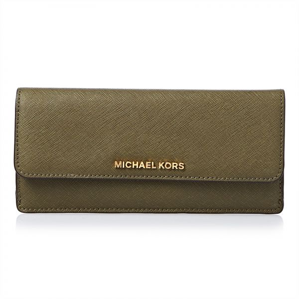 4dbe0d6c168f ... Michael Kors Olive Leather For Women - Flap Wallets ...