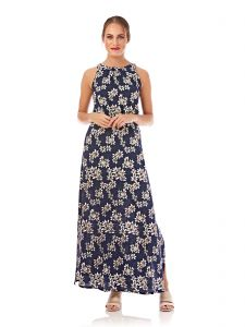 bb7aa5dca80 Mela London Floral High Neck Maxi Dress