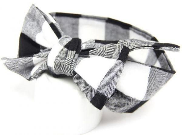 Cotton   Baby Hair Band for Little Girl - Black and White