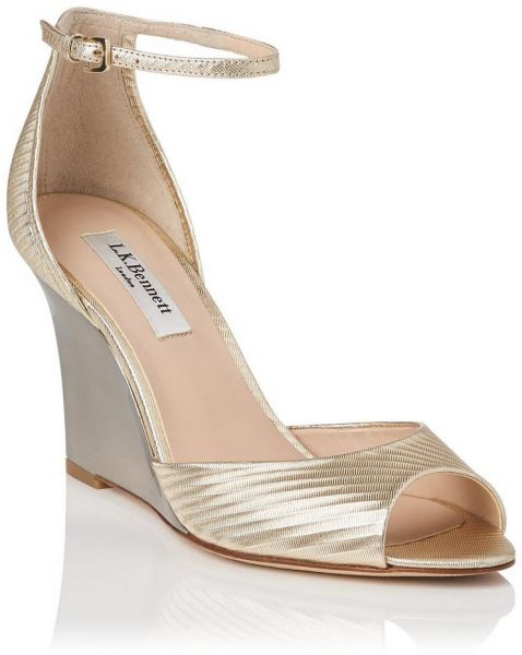 5f76ba6848 L.K. Bennett Coco Metallic Sandals For Women, Gold - 39 EU | Souq - UAE