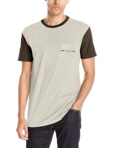 Quiksilver Mens Baysic Pocket T-Shirt, Off White Heather, S