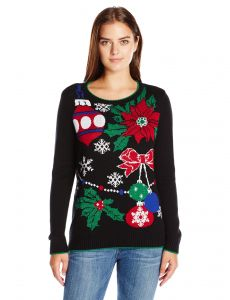 ugly christmas sweater womens xmas decor black l