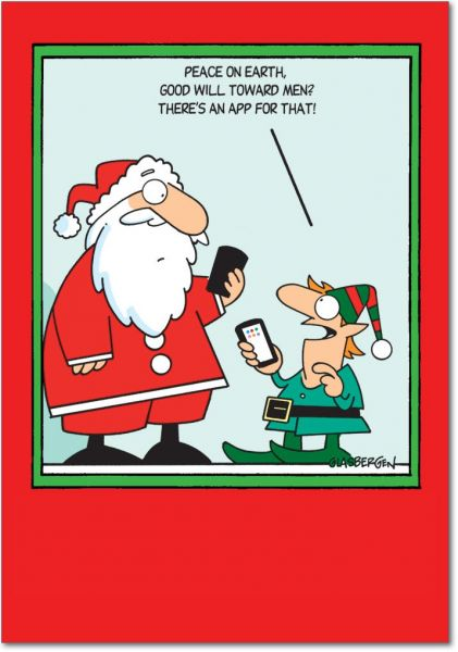 5864 App For That Funny Merry Christmas Greeting Card With 5 X