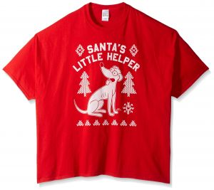 the simpsons mens big and tall santas little helper ugly christmas t shirt bt red 5xl