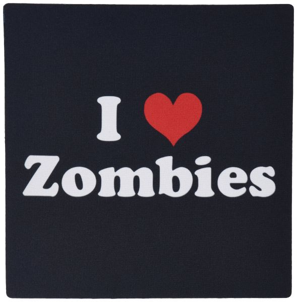 3dRose LLC 8 x 8 x 0.25 Inches Mouse Pad, I Love Zombies (mp_16571_1)