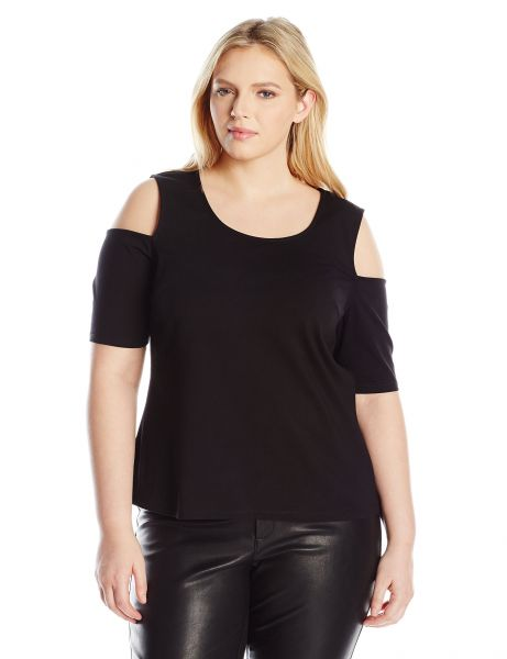 Buy Modamix Womens Plus Size Cold Shoulder Knit Top Black Onyx 3x