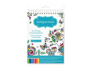 Living In Color Art Therapy Coloring Book 100 Designs A5 57in X 86in A Creative Outlet For Hours Of Fun And Calming Mindfulness Flora Fauna
