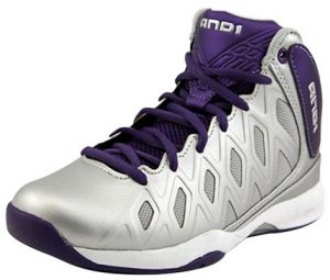 1a98c2fa64e AND1 Unbreakable Mid Basketball Shoes for Kids - Silver   Purple