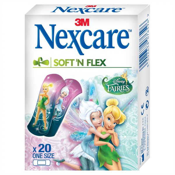 3m Nexcare Soft N Flex Fairies Tattoo Bandages 20 Pieces Souq Uae