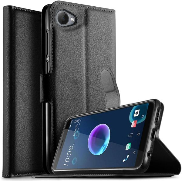 competitive price f1a25 3148e HTC Desire 12 Case, Flip Cover with ID Credit Card Slot Cover for ...