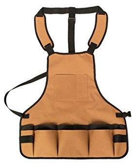 Waterproof Garden Apron With Pockets,Oxford Durable Canvas Tool Apron,Adjustable  Neck And Waist Straps Bib Aprons