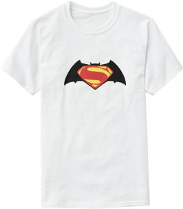 2ad357509a947 T-Shirt with Printed Design - Batman   Superman for Boys