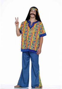 Forum Novelties Mens 60s Revolution Hippie Far Out Man Costume Multi Standard