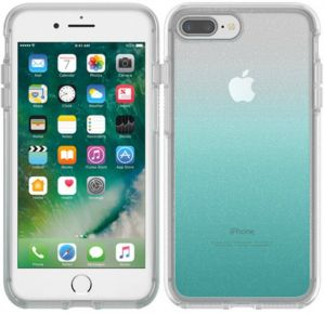 best website 2a08a 3d994 OtterBox SYMMETRY CLEAR SERIES Case for iPhone 8 Plus & iPhone 7 Plus  (ONLY) - Retail Packaging - ALOHA OMBRE (SILVER FLAKE/CLEAR/ALOHA OMBRE)