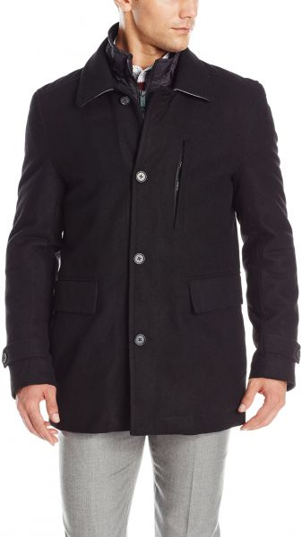 13b4de2cd05 Buy Nick Graham Men s Upper West Side Wool Bib Front Car Coat