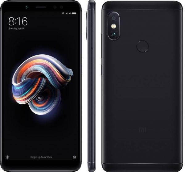 Xiaomi Redmi Note 5 AI Edition Dual SIM - 32GB, 3GB RAM, 4G LTE, Black