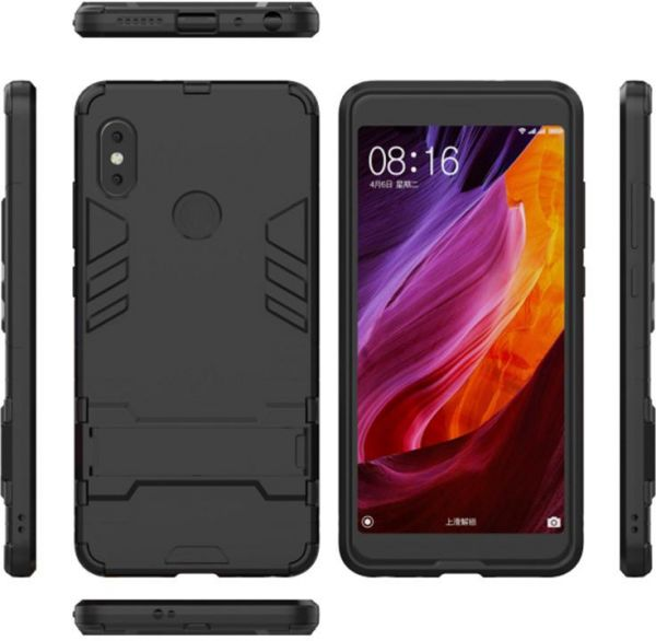 huge discount 1f48d 995d4 Xiaomi Redmi Note 5 / Note 5 Pro Iron Man Case With Stand Back Cover - Black