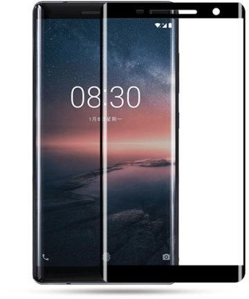 Full 5D curved glass BLACK Tempered screen protector for NOKIA 8 SIROCCO