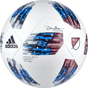 new product 8e95f f5f93 adidas Performance 2018 MLS Top Glider Soccer Ball, White Blue, Size 5