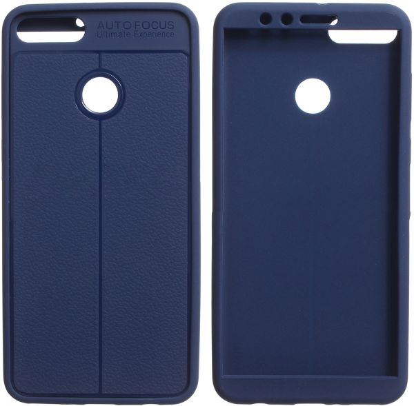 new concept d8631 e1b40 Auto Focus Full Cover 360 for Huawei Y9 2018, Dark Blue