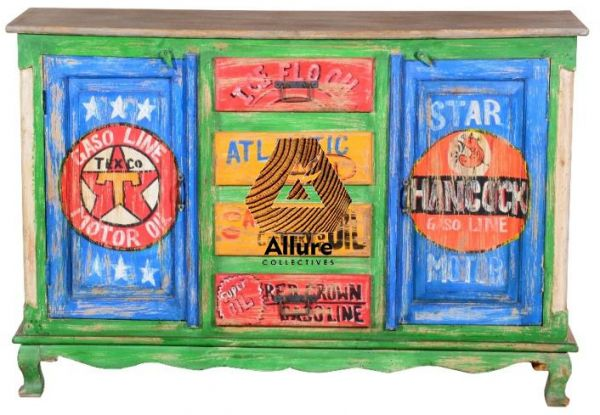 Agtl Hand Painted Storage Cabinets