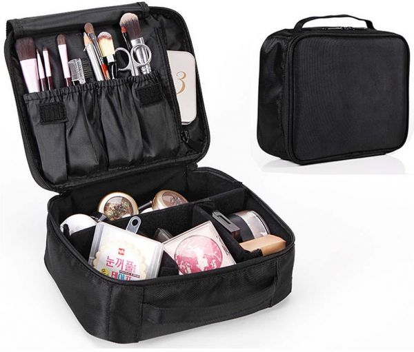 Portable Travel Makeup Bag, Cosmetic Organizer Make Up Artist Storage for  Cosmetics, Makeup Brushes, Jewelry, Toiletry and Travel Accessories   Souq  - UAE 7ee2b808b5