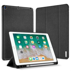2018/2017 Apple iPad 9.7 inch leather case Flip smart Auto Sleep/Wake cover tri-adjust Stand anti fall shell With Pen Slot