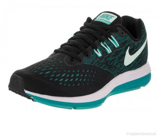2e63a0509061f Nike Zoom Winflo 4 Running Shoes For Women - Black Blue