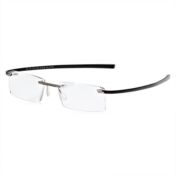 9c2ce324e5 Tag Heuer Rimless Glasses Frame for Men - Black. by Tag Heuer