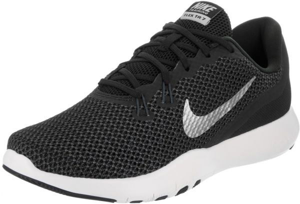 Nike Flex Trainer 7 Training Shoes For Women - Black White  cc25a28d28