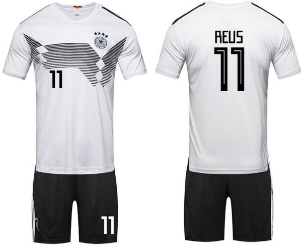b5ac08fdccb 2018 world cup Football Jersey Germany Team No.11 Reus Football suits  Short-sleeved T-shirt - M code