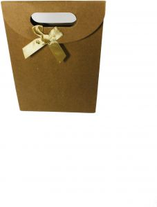 77252f454726 10 pieces of Small gift paper bag brown color