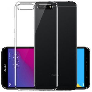 Ineix Silicone Back Case Cover For Huawei Y6 Prime (2018) - Clear