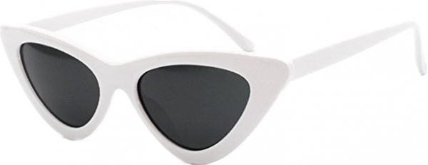 5585a75ad4 White Retro Vintage Cat Eye Sunglasses for Women Clout Goggles ...