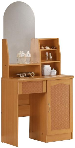 Cosmos Dressing Table, Brown - H 160 x W 80 x D 40 cm