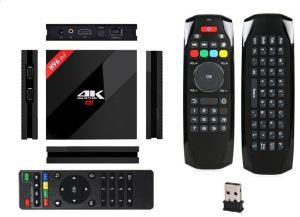 H96 Pro Plus Iptv Android Tv Box Internet Receiver 7 1 Black Colour 2G Ram,  16G Rom Storage With Airmouse Remote Control Fly Mouse Wireless Mini