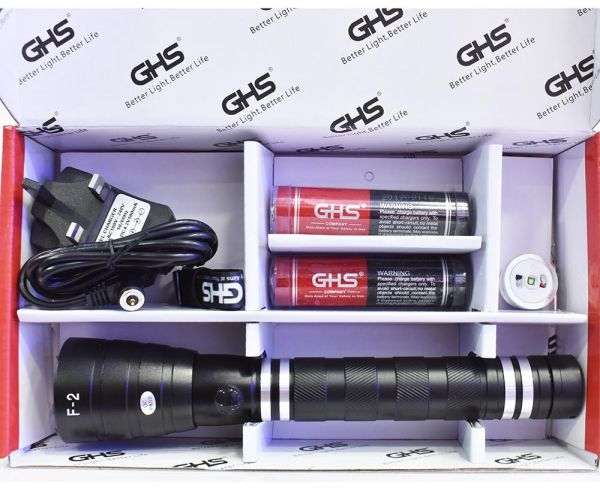 Ghs Factory Outlet F 2 Best Ing Waterproof Aluminum Led Rechargeable Flashlights With Dual Battery And Xp E2 High Brightness Bulbs