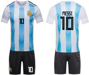 online retailer 2c4d2 90831 2018 Russia World Cup Football Jersey Argentina Team No.10 Messi Football  suits Short-sleeved T-shirt - S code
