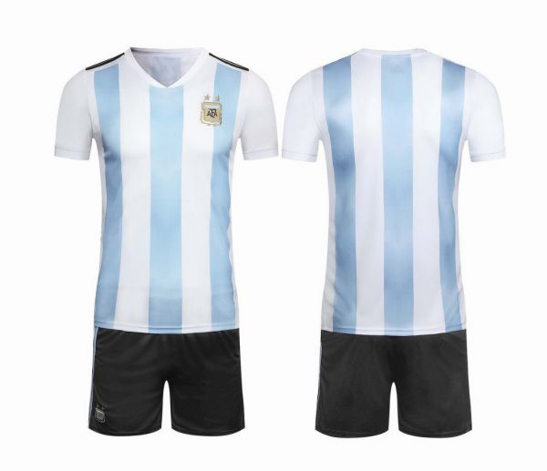 f0cfed90701 Argentina Team 2018 FIFA World Cup Football Jersey suits Short-sleeved T- shirt - M code