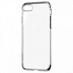 Ultra Slim Clear Flexible Soft Cover Case with Electroplated Frame TPU Gel Case for Apple iPhone 7Plus/8Plus