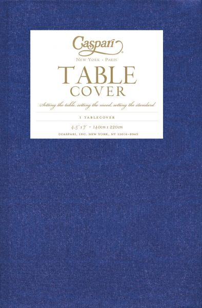 Caspari Moire Printed Paper Table Cover Blue 973TCP