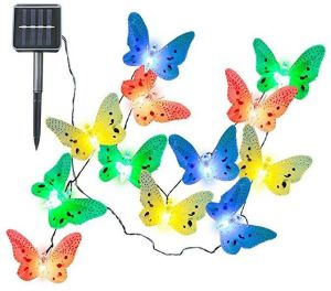 Solar Powered String Light Fairy Lights, 12 LEDs Butterfly Multi Color  Lighting For Christmas Halloween Tree Home Holiday Fence Yard Wedding Patio  Party