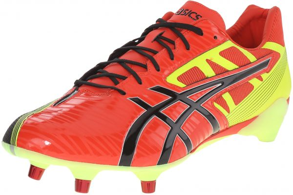 c921b151016f ASICS Men s GEL-Lethal Speed Deep Orange Black Flash Yellow Rugby ...
