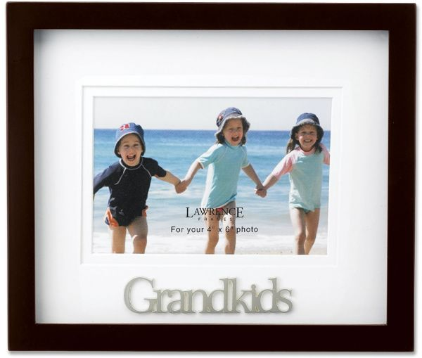 Souq | Lawrence Frames Walnut Wood 4 by 6 Grandkids Picture Frame ...