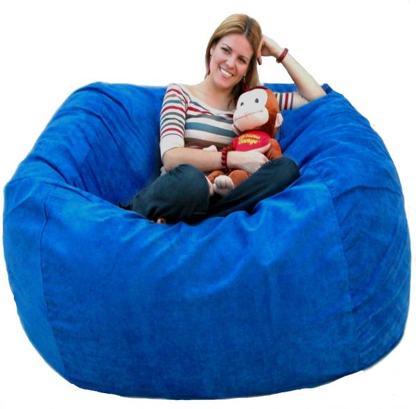 Great Cozy Sack 5 Feet Bean Bag Chair, Large, Royal