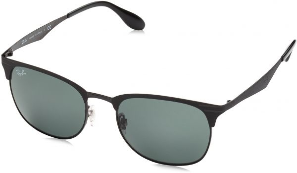 f2d59aacb0 Ray-Ban Metal Unisex Sunglasses - Top Matte Black on Shiny Frame Dark Green  Lenses 53mm Non-Polarized
