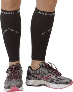 c3ca693c51f Zensah Reflective Compression Leg Sleeves - Best Night Running Gear -  Relieve Shin Splints - Calf Sleeves for Running - Improve  Visibility