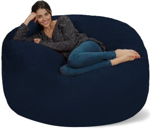 Excellent Chill Sack Bean Bag Chair Giant 5 Memory Foam Furniture Bean Bag Big Sofa With Soft Micro Fiber Cover Navy Evergreenethics Interior Chair Design Evergreenethicsorg